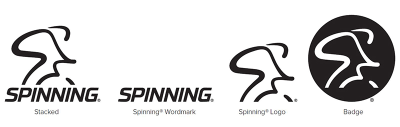 Spinning secondary logos